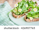 vegan sandwiches with olive oil ... | Shutterstock . vector #426907765
