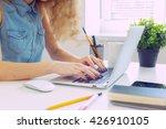 beautiful caucasian woman...   Shutterstock . vector #426910105