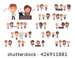 business people vector set | Shutterstock .eps vector #426911881