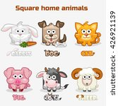 cute cartoon square home... | Shutterstock .eps vector #426921139