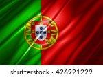 portugal flag of silk | Shutterstock . vector #426921229