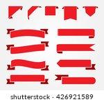 ribbon banner set.red ribbons... | Shutterstock .eps vector #426921589