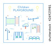 vector linear children's... | Shutterstock .eps vector #426925981