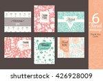 six vintage floral wedding... | Shutterstock .eps vector #426928009
