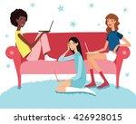 vector teenage girl's working... | Shutterstock .eps vector #426928015