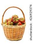 fresh strawberries in a basket... | Shutterstock . vector #426929374