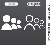 team line icon  outline and... | Shutterstock .eps vector #426933871