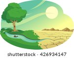 climate change desertification... | Shutterstock .eps vector #426934147