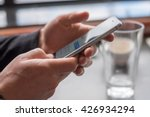 text message with a client | Shutterstock . vector #426934294