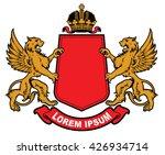 vector heraldic elements...   Shutterstock .eps vector #426934714