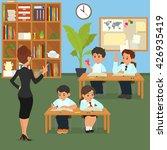 school lesson. school children... | Shutterstock .eps vector #426935419
