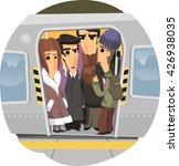 subway ride cartoon illustration | Shutterstock .eps vector #426938035