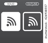 wifi line icon  outline and... | Shutterstock .eps vector #426938557