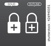 lock plus line icon  outline...
