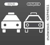 taxi line icon  outline and...