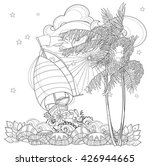 hand drawn doodle outline palm... | Shutterstock .eps vector #426944665