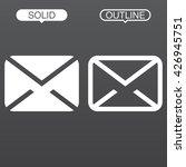message line icon  envelope...