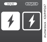 electricity line icon  outline...