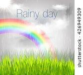 rainy day. rainbow. | Shutterstock .eps vector #426949309
