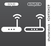 router line icon  outline and...