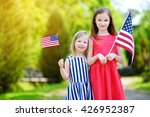 two adorable little sisters... | Shutterstock . vector #426952387
