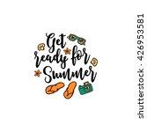 vector summer background with... | Shutterstock .eps vector #426953581