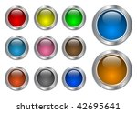set of glass with metallic... | Shutterstock . vector #42695641