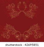 vintage frame | Shutterstock .eps vector #42695851