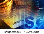 euro coins and us dollar... | Shutterstock . vector #426963085