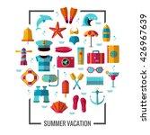 summer icon illustration poster.... | Shutterstock .eps vector #426967639