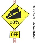 yellow road sign with 30 ... | Shutterstock .eps vector #426970207