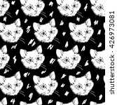 cats kittens cute sketch vector ... | Shutterstock .eps vector #426973081