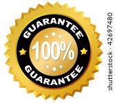 100 percent guarantee label | Shutterstock . vector #42697480