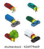 car crash. car crash emergency...   Shutterstock .eps vector #426979669