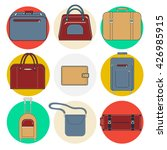baggage icons. luggage bags and ... | Shutterstock .eps vector #426985915