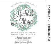 wedding invitation  thank you... | Shutterstock .eps vector #426986929