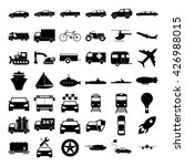 transport icons. vector concept ... | Shutterstock .eps vector #426988015
