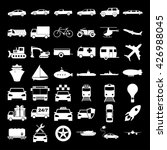 transport icons. vector concept ... | Shutterstock .eps vector #426988045