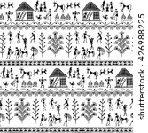 warli painting seamless pattern ... | Shutterstock .eps vector #426988225