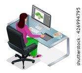 graphic designer or artist at... | Shutterstock .eps vector #426994795