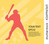 baseball player silhouette... | Shutterstock .eps vector #426996565