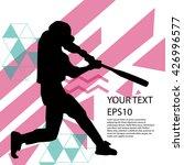 baseball player silhouette... | Shutterstock .eps vector #426996577