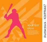 baseball player silhouette... | Shutterstock .eps vector #426996667