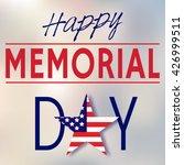 happy memorial day. memorial... | Shutterstock .eps vector #426999511
