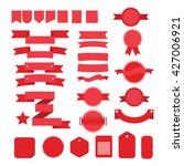 red ribbons | Shutterstock .eps vector #427006921