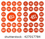 sale vector label icons.... | Shutterstock .eps vector #427017784