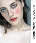wonderful beautiful young girl... | Shutterstock . vector #427022341