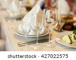 wineglasses served for a... | Shutterstock . vector #427022575
