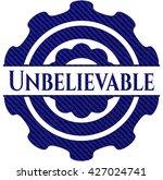 unbelievable badge with jean...   Shutterstock .eps vector #427024741