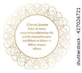 round frame gold color. border... | Shutterstock .eps vector #427026721
